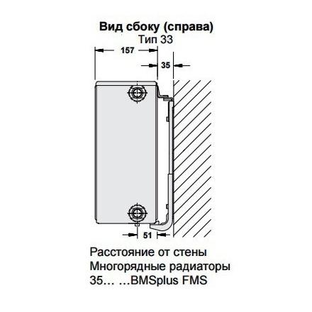 Радиатор стальной Buderus K-Profil 333001600