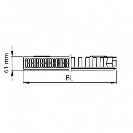 Радиатор стальной Kermi Kompakt 113001200
