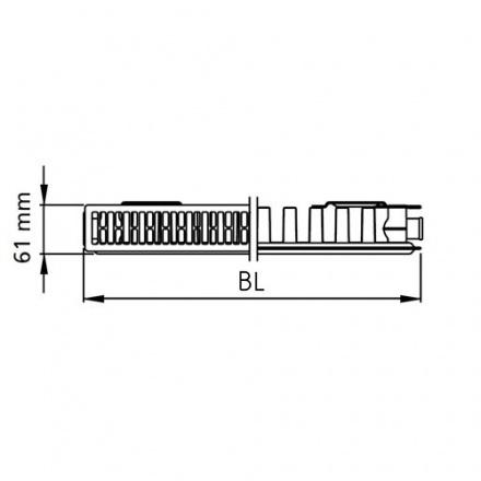 Радиатор стальной Kermi Kompakt 115001100