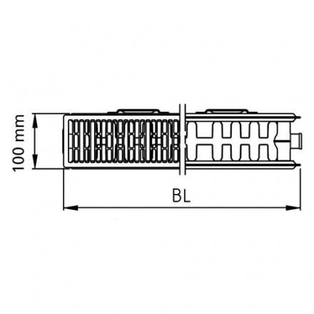 Радиатор стальной Kermi Kompakt 22 500 1000
