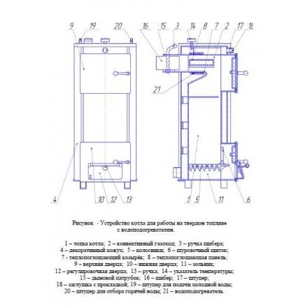 Твердотопливный котел Теплоприбор КС-Т-12,5-01
