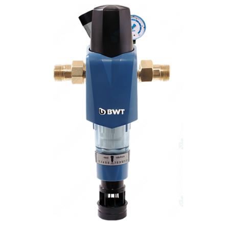 Фильтр с ручной обратной промывкой и редуктором давления BWT F1 HWS 1''