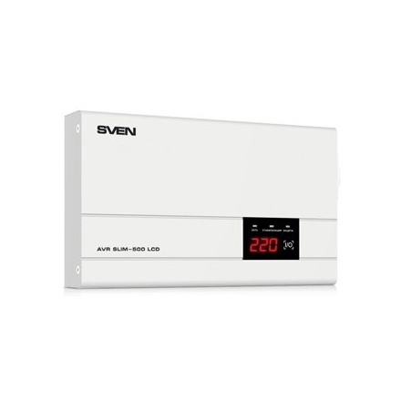 Стабилизатор напряжения SVEN SLIM-500 LCD