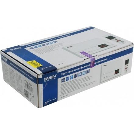Стабилизатор напряжения SVEN SLIM-500 LCD упаковка