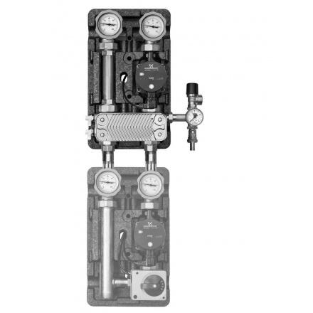 """Насосная группа Meibes UK 1"""" с разделительным теплообменником и насосом с бронзовым корпусом МЕ 45811.36"""