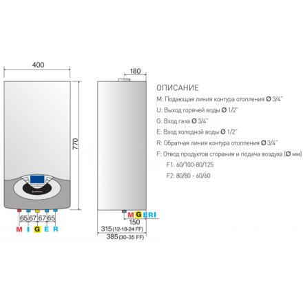 Конденсационный газовый котел Ariston GENUS PREMIUM EVO SYSTEM 24