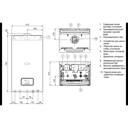 Газовый котел Protherm Пантера 25 KTV (turbo)