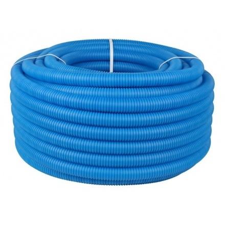 Трубка защитная гофрированная синяя Ø 25 мм