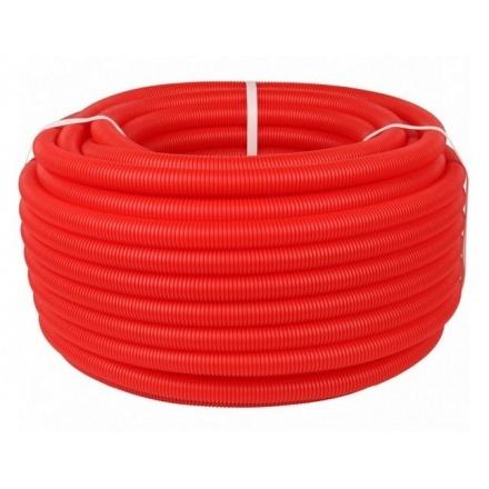 Трубка защитная гофрированная красная Ø 40 мм