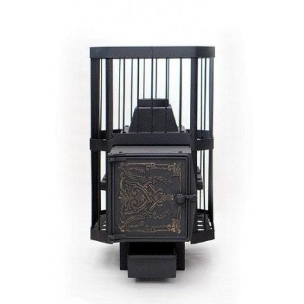 Печь банная чугунная СИБИРЬ-18 чугунная дверка (сетка)