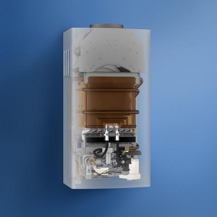 Газовый водонагреватель Нева 4510М (серебро)