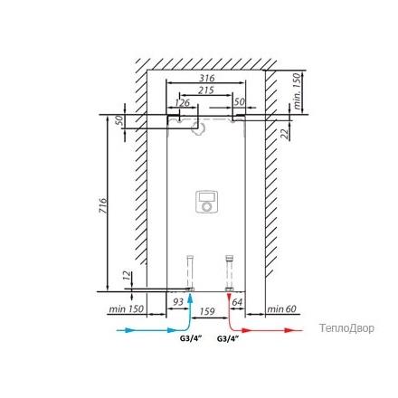 Электрический котел Viessmann Vitotron 100 VLN3-24 пост. температура
