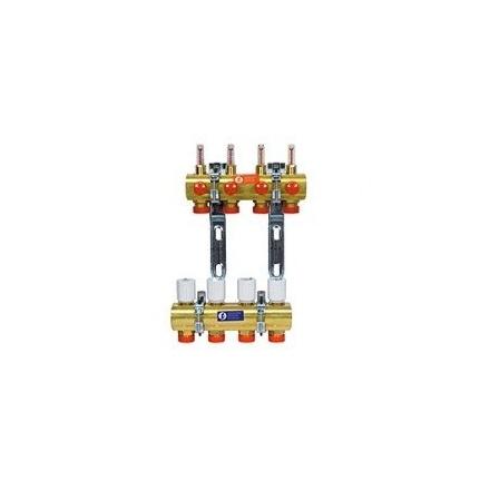 """Коллектор сборный Giacomini 1x3/4""""E /7 со встроенными расходомерами и балансировкой контуров"""