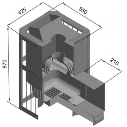 Печь для бани Этна Шторм 18 (ДТ-4С)