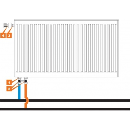 Радиатор стальной Prado Universal 21 500 1000