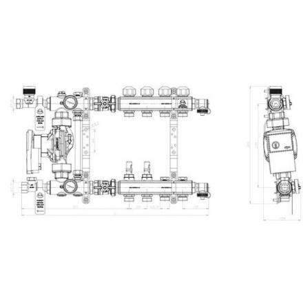 Распределитель KAN-therm со смесительной системой 7704E