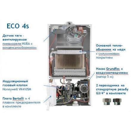 Газовый котел Baxi ECO 4S 1.24F