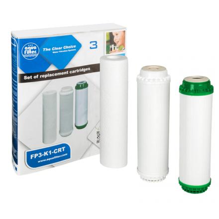 Комплект 3х картриджей Aquafilter для FP3-К1-CRT