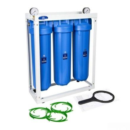 Комплект 3х корпусов Aquafilter HHBB20B на стеллаже