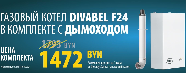 Скидка на котел Divabel F24