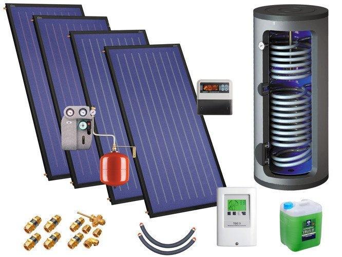Солнечная водонагревательная установка Kospel ZSH-4/400 quattroSOL