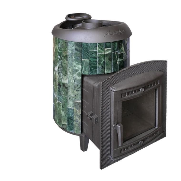 Банная печь ProMetall Атмосфера комбинированная сетка-ламель «Змеевик»